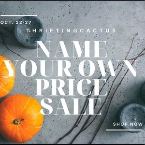 Name your own price sale